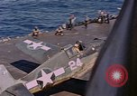 Image of US Navy Squadron VF-16 aboard USS Lexington (CV-16) Pacific Ocean, 1944, second 33 stock footage video 65675071281
