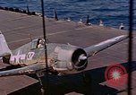 Image of US Navy Squadron VF-16 aboard USS Lexington (CV-16) Pacific Ocean, 1944, second 34 stock footage video 65675071281