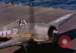 Image of US Navy Squadron VF-16 aboard USS Lexington (CV-16) Pacific Ocean, 1944, second 35 stock footage video 65675071281