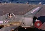 Image of US Navy Squadron VF-16 aboard USS Lexington (CV-16) Pacific Ocean, 1944, second 36 stock footage video 65675071281