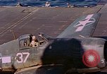 Image of US Navy Squadron VF-16 aboard USS Lexington (CV-16) Pacific Ocean, 1944, second 37 stock footage video 65675071281