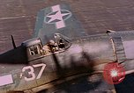 Image of US Navy Squadron VF-16 aboard USS Lexington (CV-16) Pacific Ocean, 1944, second 40 stock footage video 65675071281