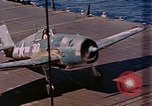 Image of US Navy Squadron VF-16 aboard USS Lexington (CV-16) Pacific Ocean, 1944, second 44 stock footage video 65675071281