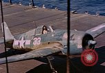 Image of US Navy Squadron VF-16 aboard USS Lexington (CV-16) Pacific Ocean, 1944, second 45 stock footage video 65675071281