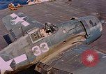 Image of US Navy Squadron VF-16 aboard USS Lexington (CV-16) Pacific Ocean, 1944, second 51 stock footage video 65675071281