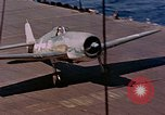 Image of US Navy Squadron VF-16 aboard USS Lexington (CV-16) Pacific Ocean, 1944, second 53 stock footage video 65675071281