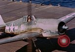 Image of US Navy Squadron VF-16 aboard USS Lexington (CV-16) Pacific Ocean, 1944, second 55 stock footage video 65675071281