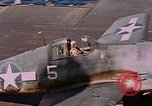 Image of US Navy Squadron VF-16 aboard USS Lexington (CV-16) Pacific Ocean, 1944, second 57 stock footage video 65675071281
