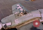 Image of US Navy Squadron VF-16 aboard USS Lexington (CV-16) Pacific Ocean, 1944, second 59 stock footage video 65675071281