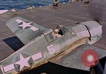 Image of US Navy Squadron VF-16 aboard USS Lexington (CV-16) Pacific Ocean, 1944, second 61 stock footage video 65675071281