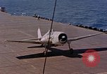 Image of US Navy Squadron VF-16 aboard USS Lexington (CV-16) Pacific Ocean, 1944, second 62 stock footage video 65675071281