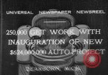 Image of Ford automobile plant expansion during depression Dearborn Michigan USA, 1932, second 1 stock footage video 65675071314