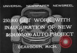 Image of Ford automobile plant expansion during depression Dearborn Michigan USA, 1932, second 4 stock footage video 65675071314