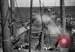 Image of US Navy spray systems to combat fire Iwo Jima, 1945, second 2 stock footage video 65675071340