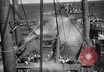Image of US Navy spray systems to combat fire Iwo Jima, 1945, second 4 stock footage video 65675071340