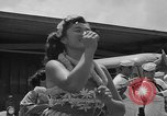 Image of aircraft carrier in Hawaii Pearl Harbor Hawaii USA, 1949, second 20 stock footage video 65675071363