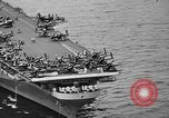 Image of aircraft carrier in Hawaii Pearl Harbor Hawaii USA, 1949, second 25 stock footage video 65675071363