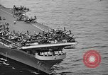Image of aircraft carrier in Hawaii Pearl Harbor Hawaii USA, 1949, second 26 stock footage video 65675071363