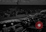 Image of aircraft carrier in Hawaii Pearl Harbor Hawaii USA, 1949, second 38 stock footage video 65675071363