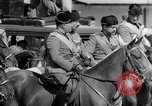 Image of Benito Mussolini and entourage on Horseback Italy, 1925, second 41 stock footage video 65675071385
