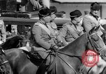Image of Benito Mussolini and entourage on Horseback Italy, 1925, second 45 stock footage video 65675071385