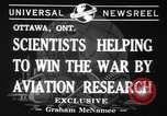 Image of aviation research in World War 2 Ottawa Ontario Canada, 1941, second 2 stock footage video 65675071401