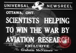 Image of aviation research in World War 2 Ottawa Ontario Canada, 1941, second 3 stock footage video 65675071401