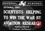 Image of aviation research in World War 2 Ottawa Ontario Canada, 1941, second 5 stock footage video 65675071401