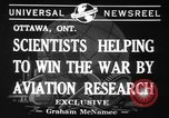 Image of aviation research in World War 2 Ottawa Ontario Canada, 1941, second 7 stock footage video 65675071401