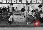 Image of rodeo Pendleton Oregon USA, 1955, second 45 stock footage video 65675071442