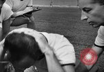 Image of cadets sit-ups New Haven Connecticut USA, 1944, second 15 stock footage video 65675071446