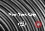Image of model aircraft New York United States USA, 1957, second 2 stock footage video 65675071462