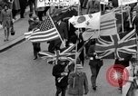 Image of demonstrations against Vietnam War London England United Kingdom, 1968, second 25 stock footage video 65675071476