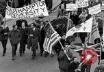 Image of demonstrations against Vietnam War London England United Kingdom, 1968, second 27 stock footage video 65675071476