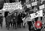 Image of demonstrations against Vietnam War London England United Kingdom, 1968, second 28 stock footage video 65675071476