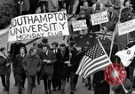 Image of demonstrations against Vietnam War London England United Kingdom, 1968, second 29 stock footage video 65675071476