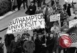 Image of demonstrations against Vietnam War London England United Kingdom, 1968, second 31 stock footage video 65675071476
