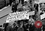 Image of demonstrations against Vietnam War London England United Kingdom, 1968, second 32 stock footage video 65675071476