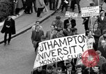 Image of demonstrations against Vietnam War London England United Kingdom, 1968, second 34 stock footage video 65675071476