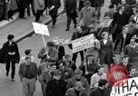 Image of demonstrations against Vietnam War London England United Kingdom, 1968, second 37 stock footage video 65675071476