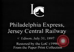 Image of Crossing railroad lines United States USA, 1897, second 6 stock footage video 65675071538