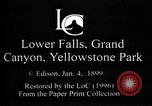 Image of Lower Falls Wyoming United States USA, 1897, second 3 stock footage video 65675071543