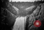 Image of Lower Falls Wyoming United States USA, 1897, second 13 stock footage video 65675071543