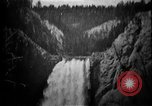 Image of Lower Falls Wyoming United States USA, 1897, second 31 stock footage video 65675071543