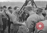 Image of Adolf Hitler in Nazi rally at Zeppelin Field in Nuremberg Germany, 1933, second 4 stock footage video 65675071551