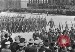Image of Adolf Hitler in Nazi rally at Zeppelin Field in Nuremberg Germany, 1933, second 19 stock footage video 65675071551