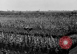 Image of German troops marching on a rough field Germany, 1933, second 44 stock footage video 65675071553