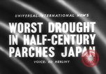 Image of drought Japan, 1958, second 4 stock footage video 65675071621