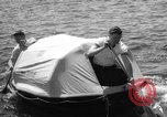 Image of life raft New York United States USA, 1958, second 37 stock footage video 65675071622