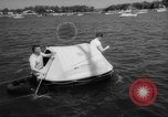 Image of life raft New York United States USA, 1958, second 43 stock footage video 65675071622